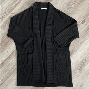 Black Kimono Style Cardigan